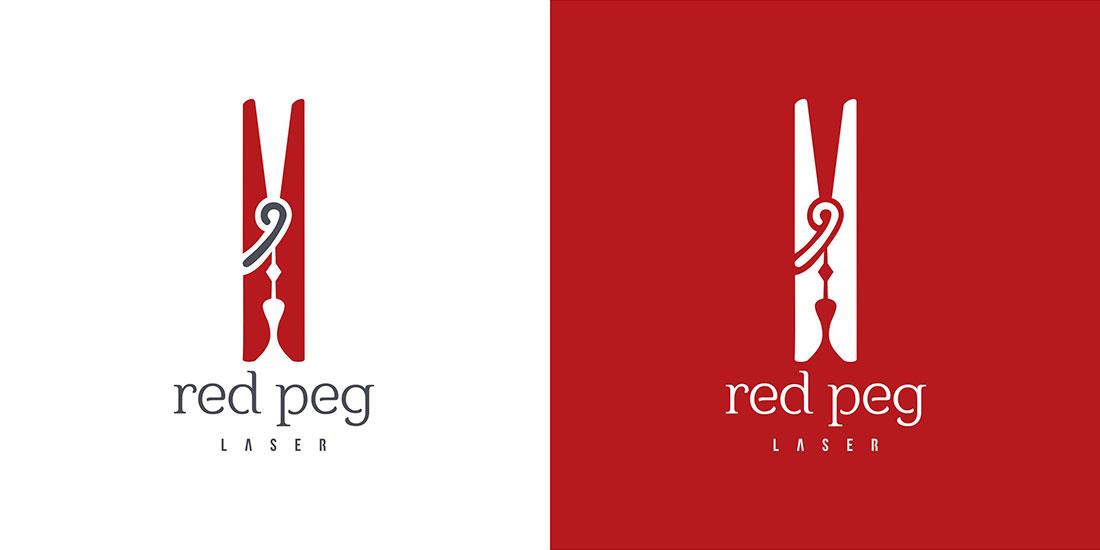 Red Peg Laser logo design