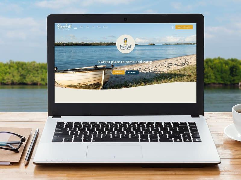 Barefoot Bar & Grill website