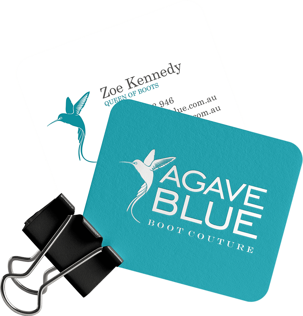 Agave Blue Logo Graphic Design Noosa