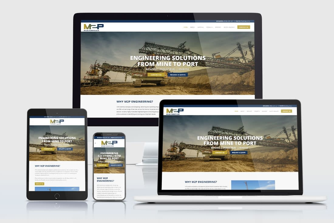 M2P Engineering website design