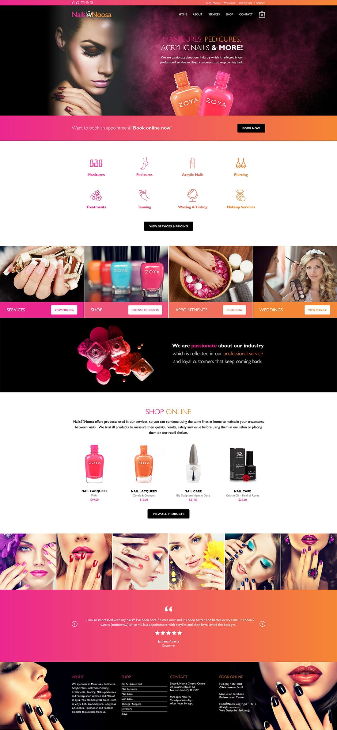 Nails at Noosa website home page