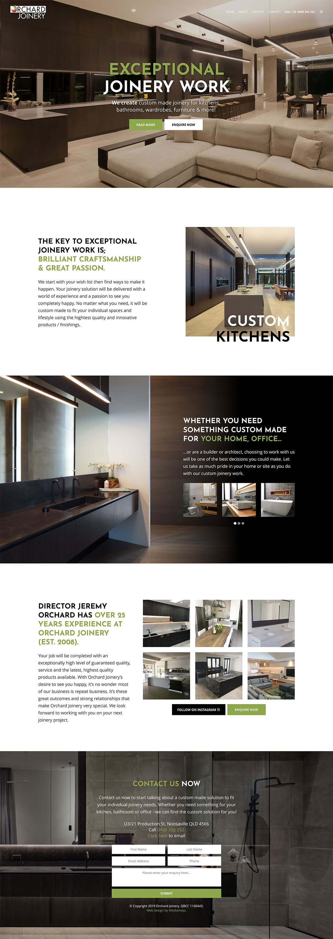 Orchard Joinery website design