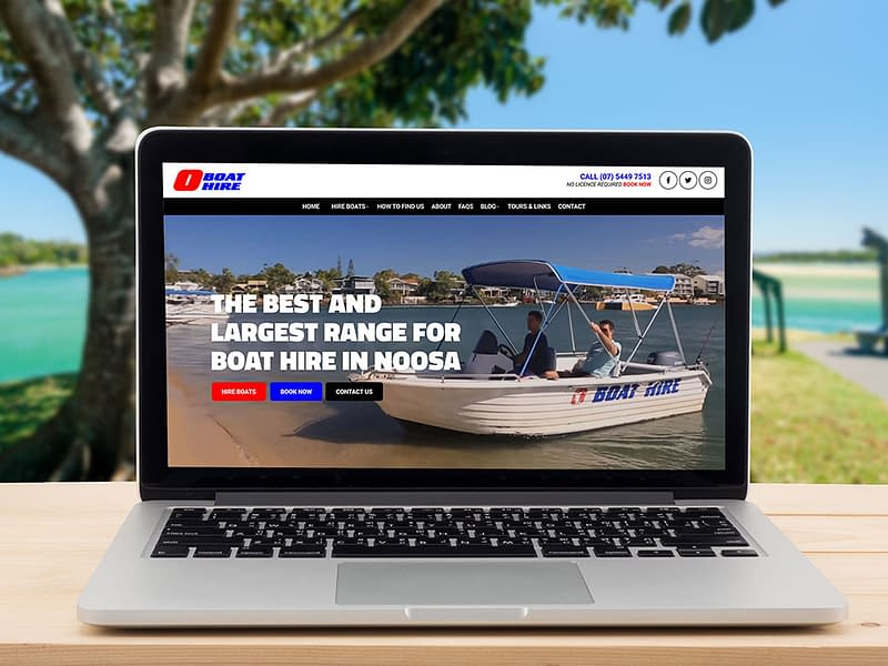 O Boat Hire website design