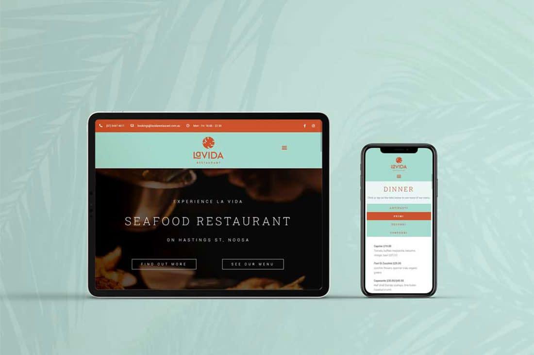 La Vida Restaurant website design