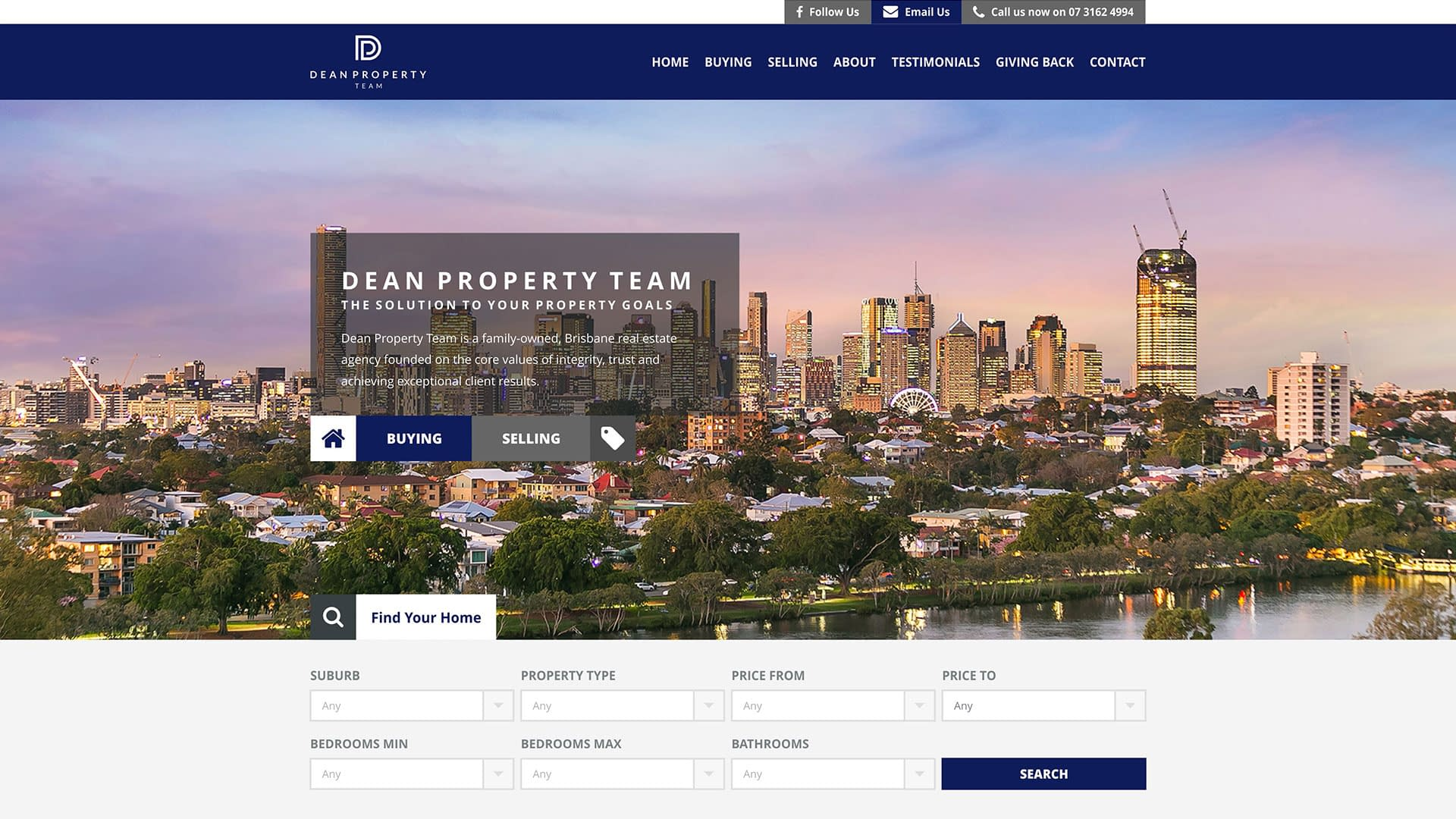 Dean Property Team real estate website