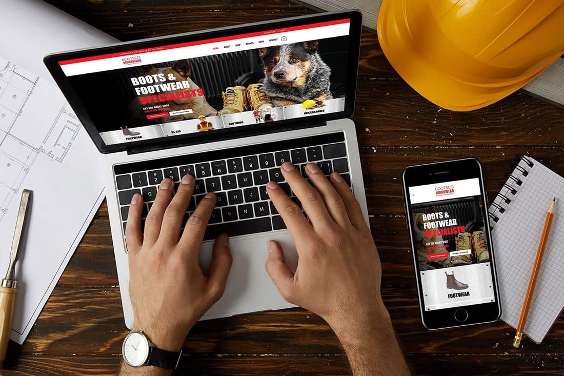 Bootsco workwear website refresh