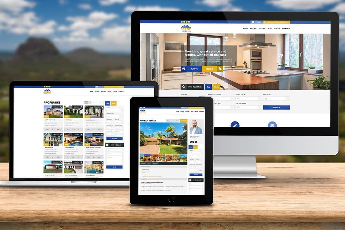 Serge Properties website design