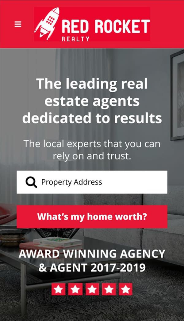 Red Rocket Realty website
