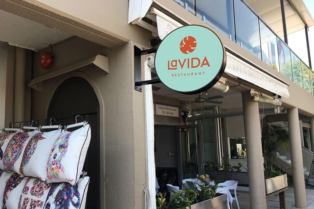 La Vida Restaurant signage