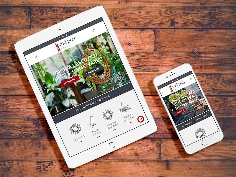 Red Peg Laser website design