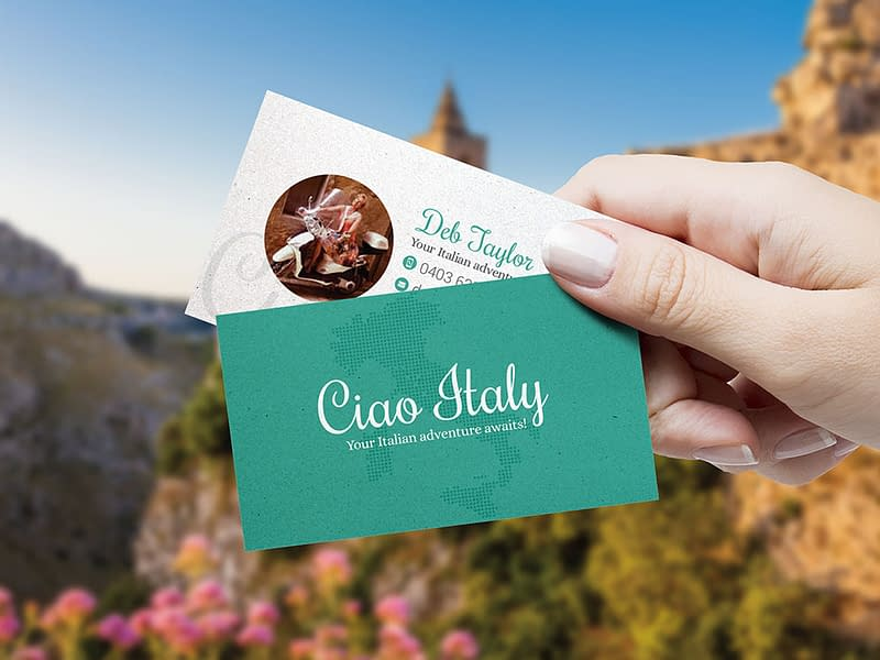 Ciao Italy business cards