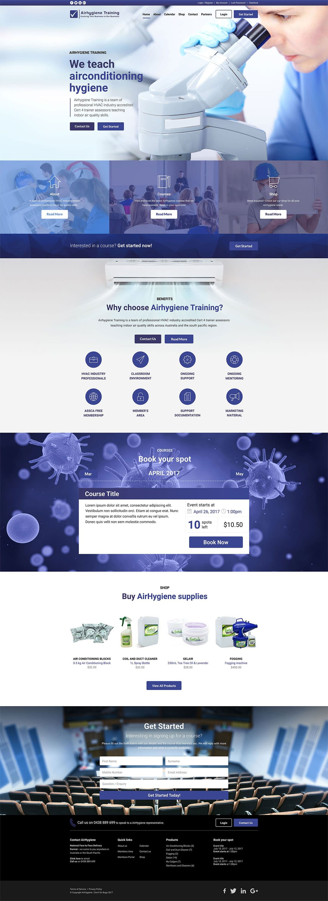 Airhygiene website home page
