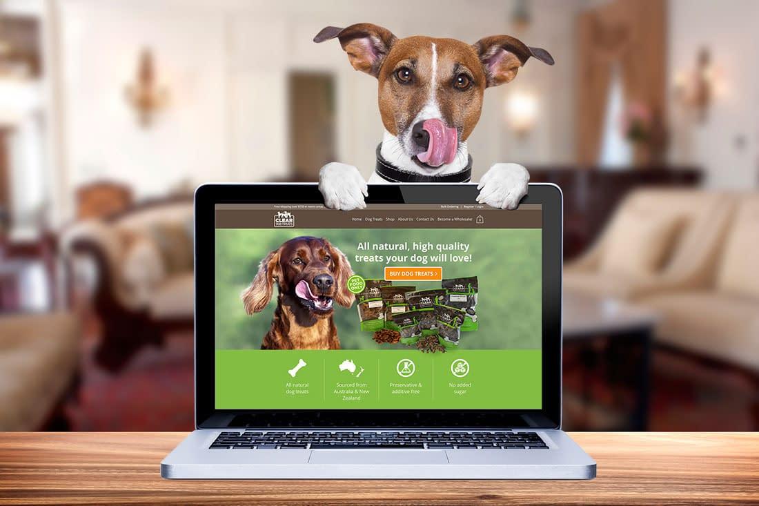 Clear dog treats website