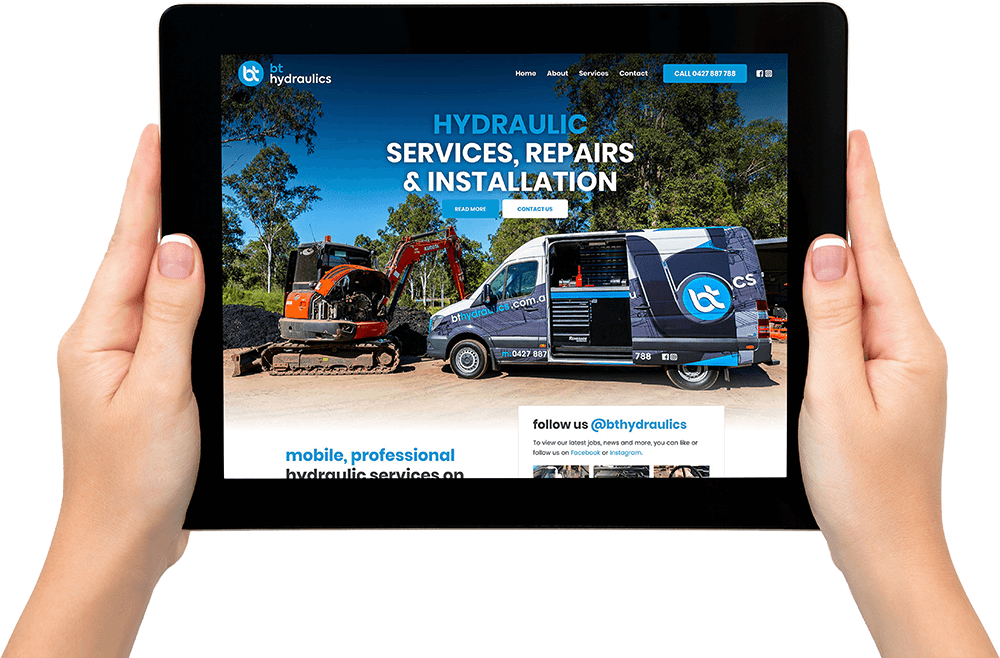 BY Hydraulics website design
