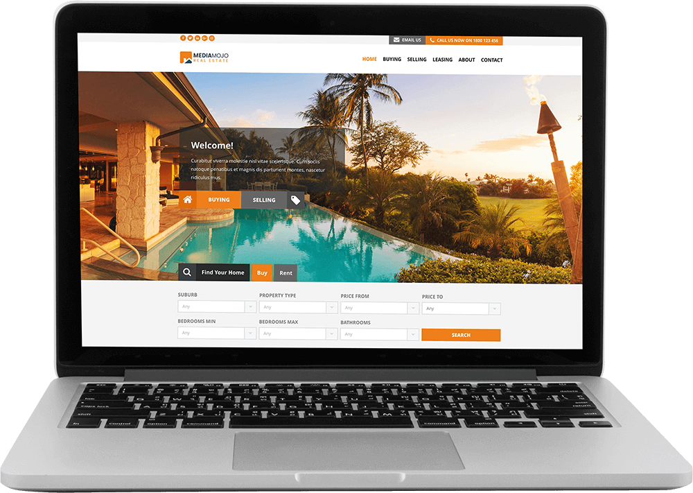 Custom real estate website design