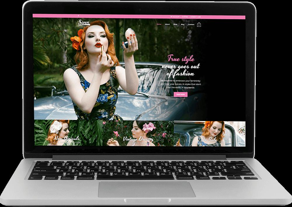 Siren Clothing ecommerce website
