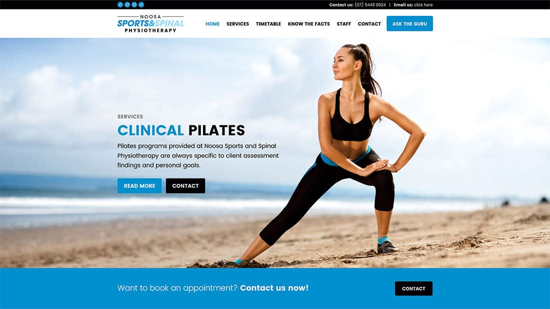 Noosa sports and spinal physiotherapy new website
