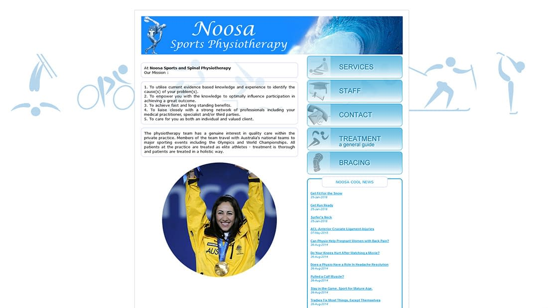 Noosa sports and spinal physiotherapy old website