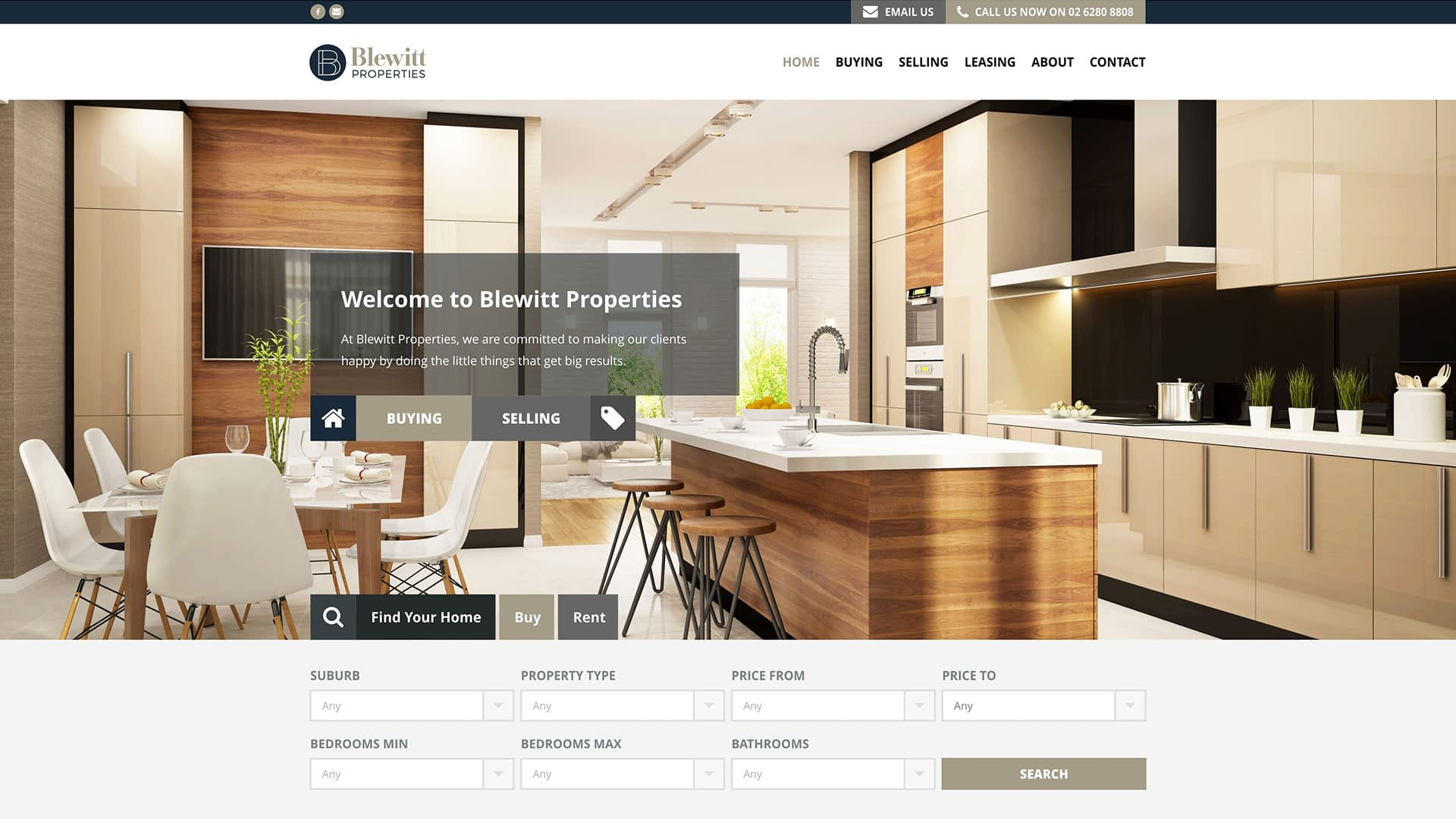 Blewitt Properties real estate website