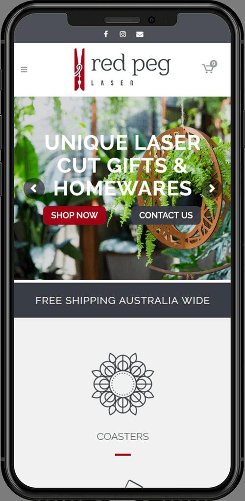 Red Peg Laser ecommerce website