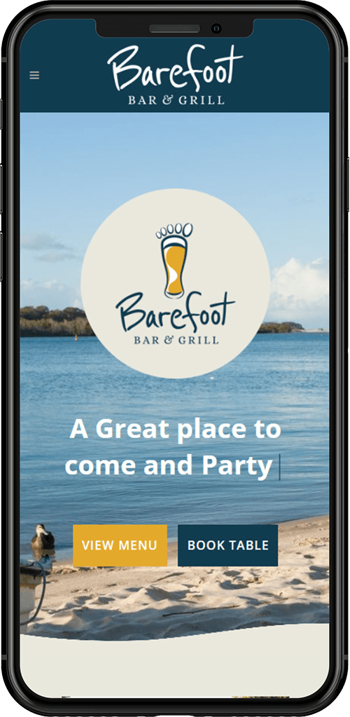 Barefoot bar and grill website