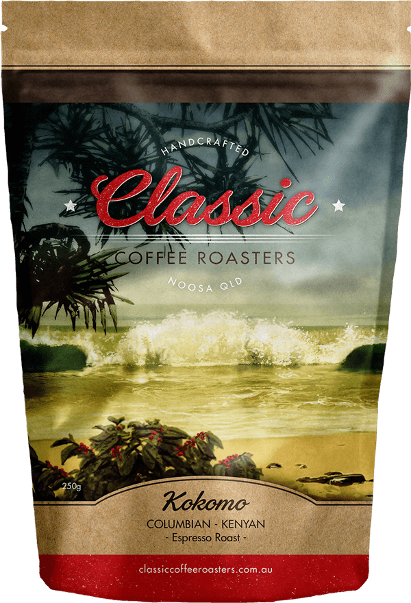 Classic Coffee Roasters packaging design Sunshine Coast