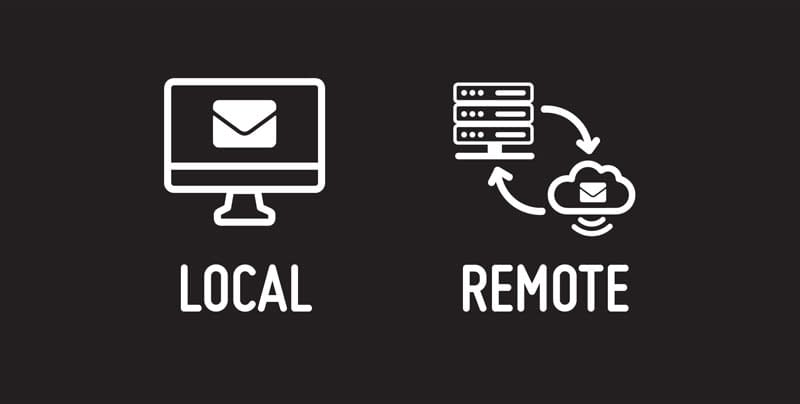 the difference between local and remote emails