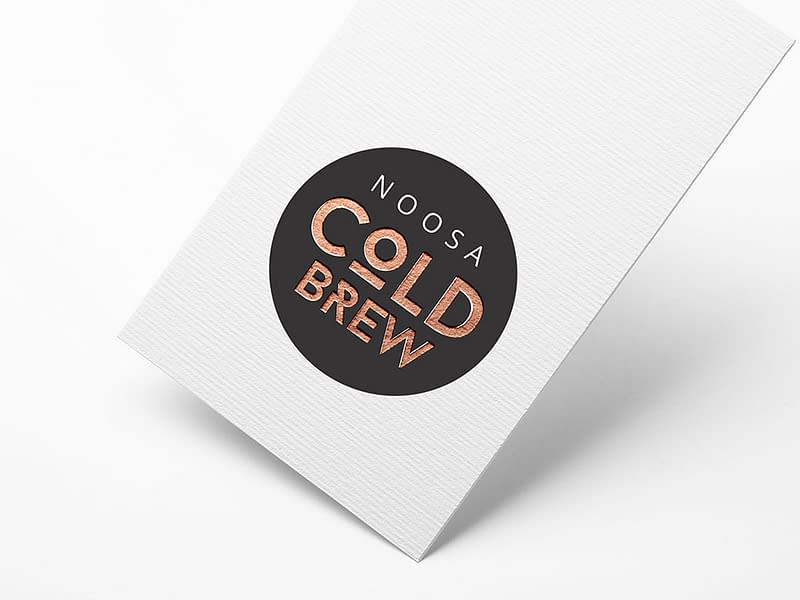 Noosa Cold Brew foil card