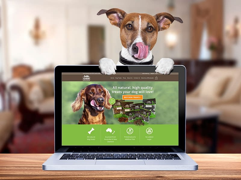 Clear dog treats website