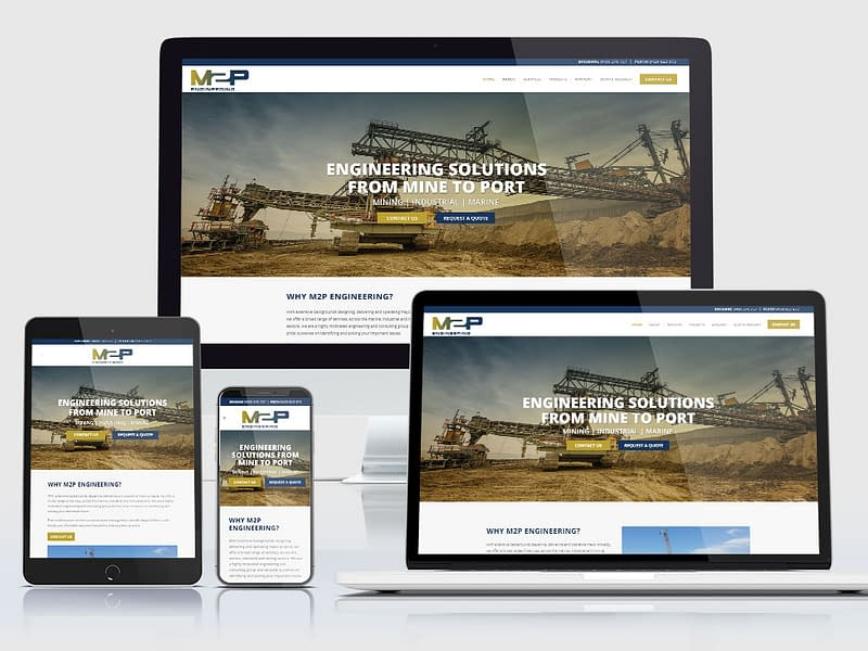 M2P Engineering website design