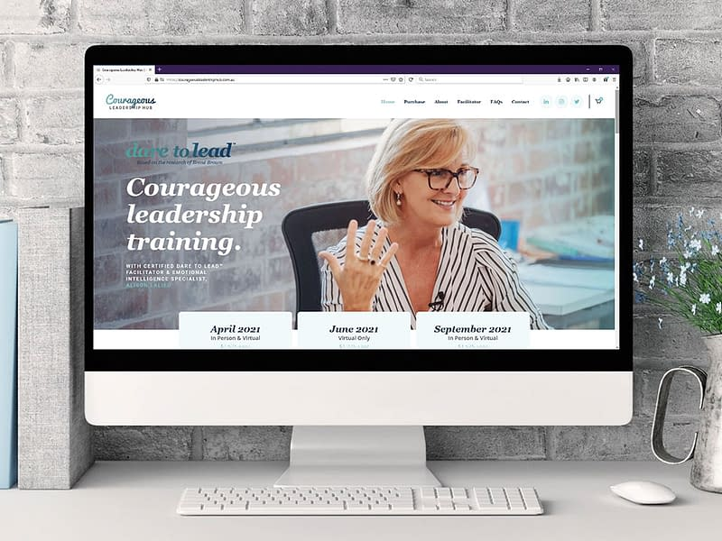 Courageous Leadership Hub website
