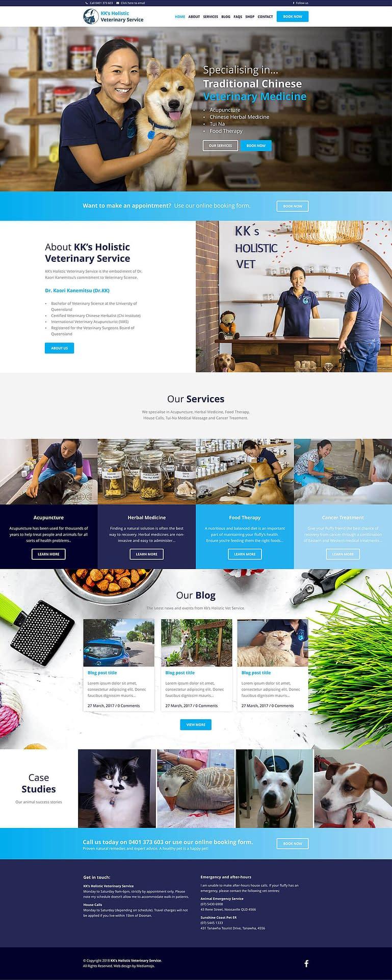 KK's Holistic Vet Service homepage