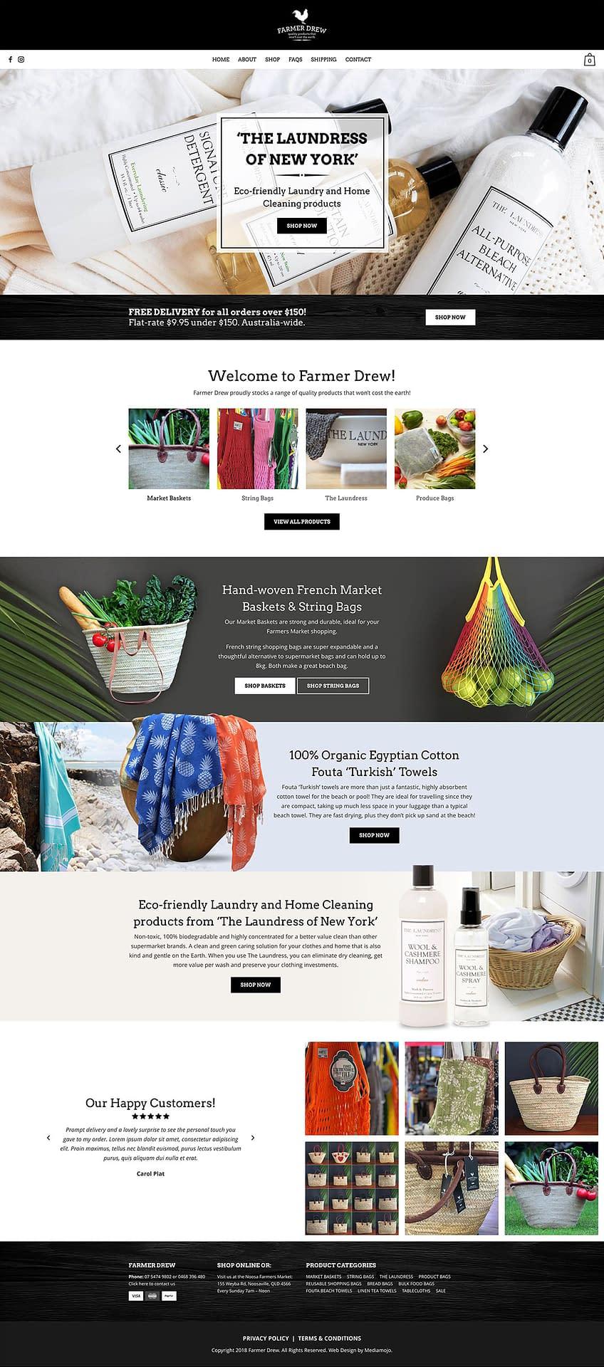 Farmer Drew website