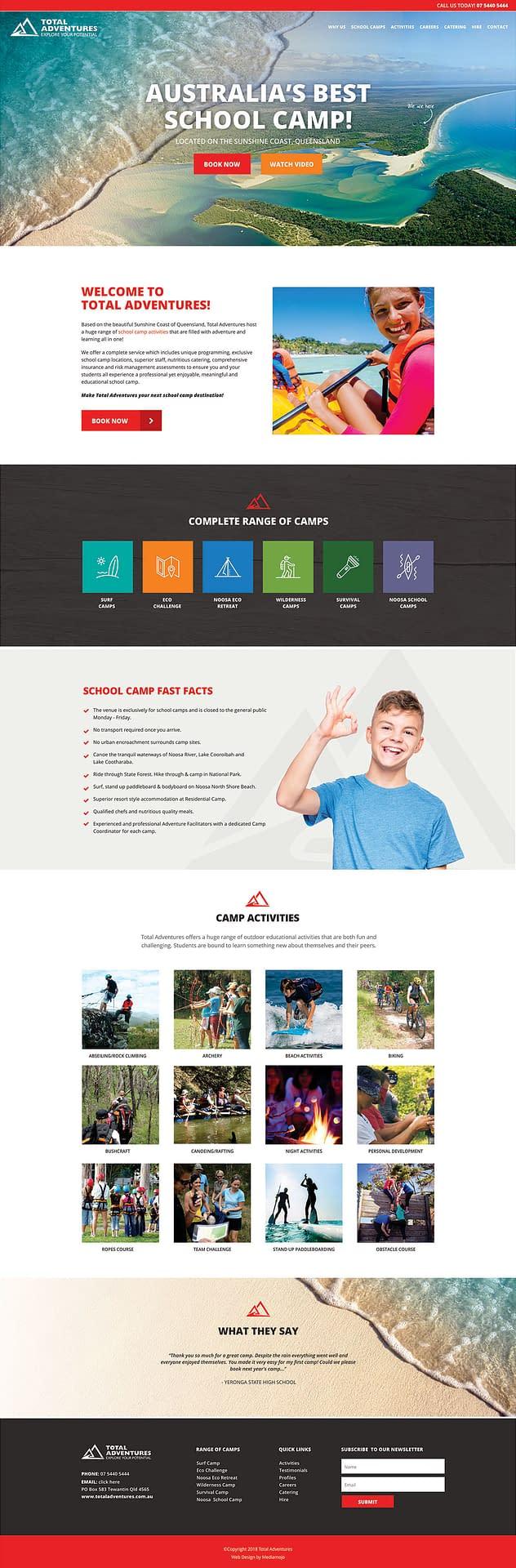 Total Adventures website