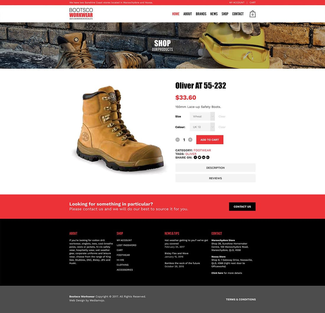 Bootsco workwear online shop