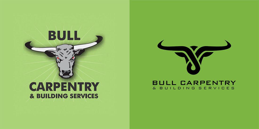 Bull Carpentry logo design