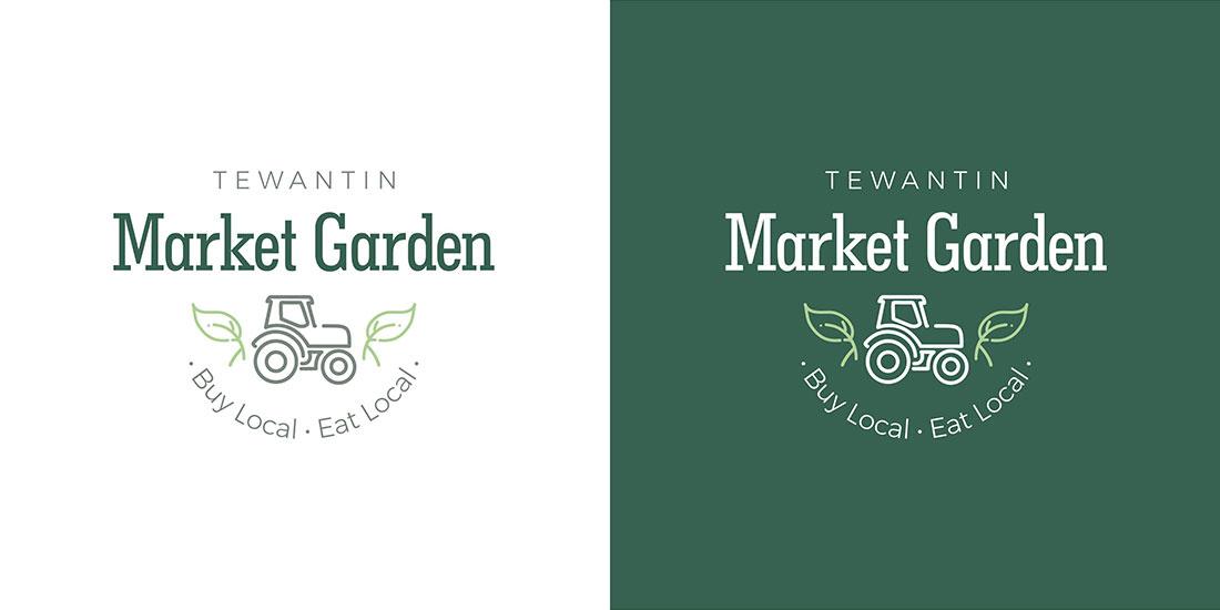 Tewantin Market Garden logo design