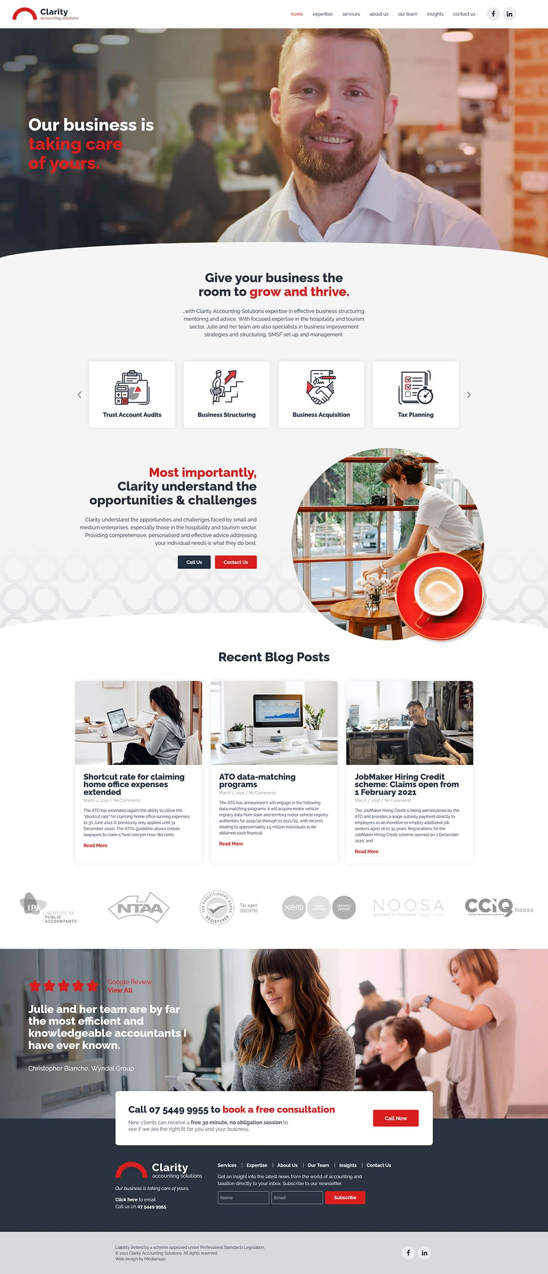 Clarity Accounting Solutions website design