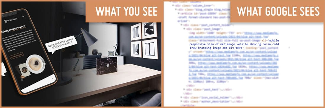 what you see vs. what google sees comparison